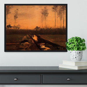 Landscape at Dusk by Van Gogh Framed Print - Canvas Art Rocks - 2