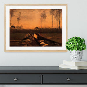 Landscape at Dusk by Van Gogh Framed Print - Canvas Art Rocks - 3