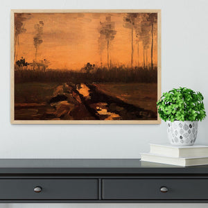 Landscape at Dusk by Van Gogh Framed Print - Canvas Art Rocks - 4