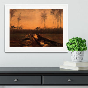 Landscape at Dusk by Van Gogh Framed Print - Canvas Art Rocks - 5