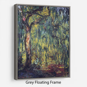 Landscape by Monet Floating Frame Canvas