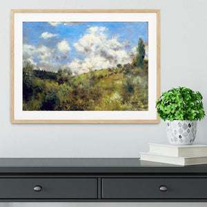 Landscape by Renoir Framed Print - Canvas Art Rocks - 3