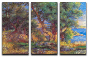 Landscape in Menton by Renoir 3 Split Panel Canvas Print - Canvas Art Rocks - 1