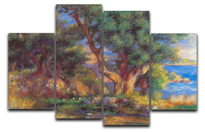 Landscape in Menton by Renoir 4 Split Panel Canvas  - Canvas Art Rocks - 1