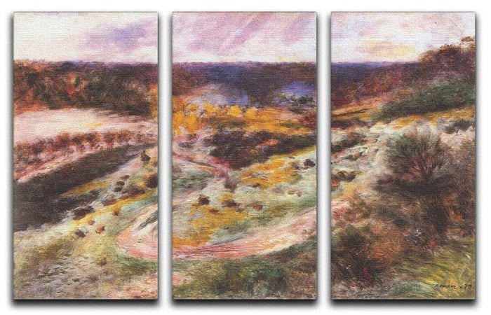 Landscape in Wargemont by Renoir 3 Split Panel Canvas Print