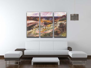 Landscape in Wargemont by Renoir 3 Split Panel Canvas Print - Canvas Art Rocks - 3
