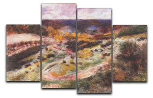 Landscape in Wargemont by Renoir 4 Split Panel Canvas  - Canvas Art Rocks - 1