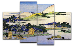 Landscape of Ryukyu by Hokusai 4 Split Panel Canvas  - Canvas Art Rocks - 1