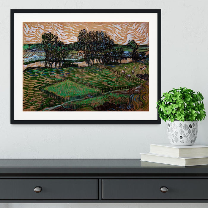 Landscape with Bridge across the Oise by Van Gogh Framed Print