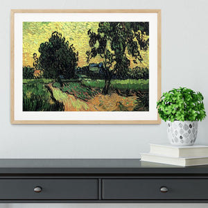 Landscape with the Chateau of Auvers at Sunset by Van Gogh Framed Print - Canvas Art Rocks - 3