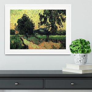 Landscape with the Chateau of Auvers at Sunset by Van Gogh Framed Print - Canvas Art Rocks - 5