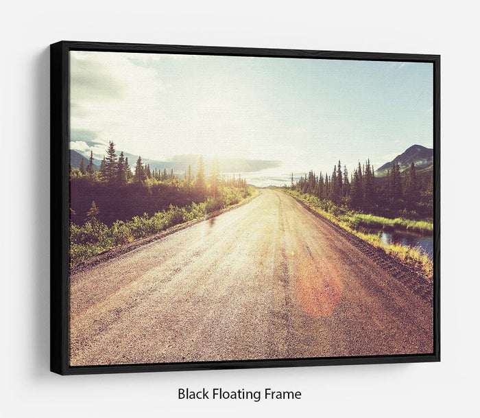 Landscapes on Denali highway Floating Frame Canvas