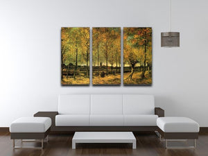 Lane with Poplars by Van Gogh 3 Split Panel Canvas Print - Canvas Art Rocks - 4