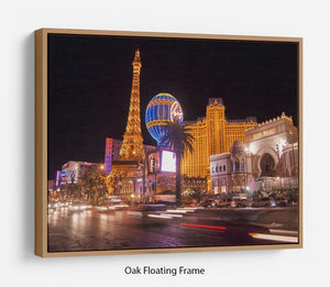 Las Vegas Blvd at Flamingo Floating Frame Canvas