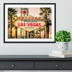 Las Vegas Welcomes You Framed Print - Canvas Art Rocks - 1
