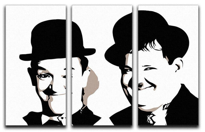Laurel and Hardy 3 Split Panel Canvas Print