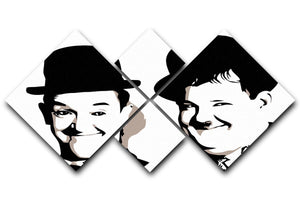 Laurel and Hardy 4 Square Multi Panel Canvas  - Canvas Art Rocks - 1