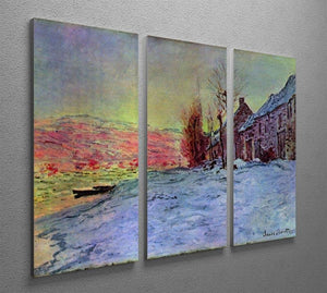 Lava Court sunshine and snow by Monet Split Panel Canvas Print - Canvas Art Rocks - 4