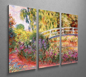 Le Bassin aux Nympheas by Monet Split Panel Canvas Print - Canvas Art Rocks - 4