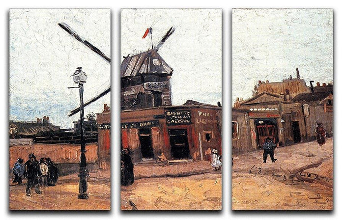 Le Moulin de la Galette 3 by Van Gogh 3 Split Panel Canvas Print