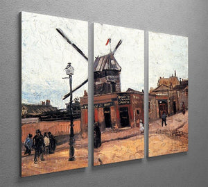 Le Moulin de la Galette 3 by Van Gogh 3 Split Panel Canvas Print - Canvas Art Rocks - 4