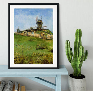 Le Moulin de la Galette 4 by Van Gogh Framed Print - Canvas Art Rocks - 1