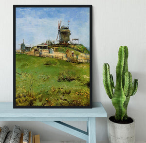 Le Moulin de la Galette 4 by Van Gogh Framed Print - Canvas Art Rocks - 2