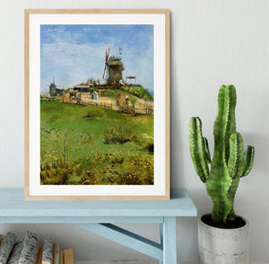 Le Moulin de la Galette 4 by Van Gogh Framed Print - Canvas Art Rocks - 3
