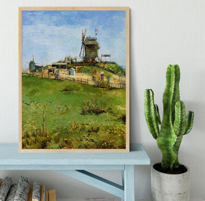 Le Moulin de la Galette 4 by Van Gogh Framed Print - Canvas Art Rocks - 4
