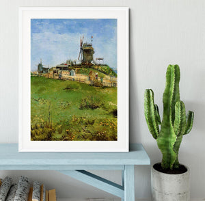 Le Moulin de la Galette 4 by Van Gogh Framed Print - Canvas Art Rocks - 5