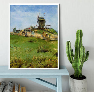 Le Moulin de la Galette 4 by Van Gogh Framed Print - Canvas Art Rocks -6