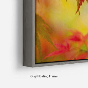 Leaf Patterns Floating Frame Canvas - Canvas Art Rocks - 4