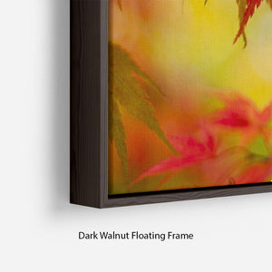 Leaf Patterns Floating Frame Canvas - Canvas Art Rocks - 6