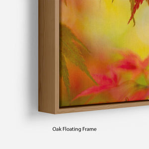 Leaf Patterns Floating Frame Canvas - Canvas Art Rocks - 10