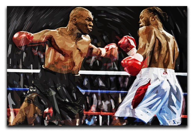 Lennox Lewis v Mike Tyson Canvas Print or Poster  - Canvas Art Rocks - 1
