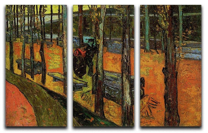 Les Alyscamps 2 by Van Gogh 3 Split Panel Canvas Print