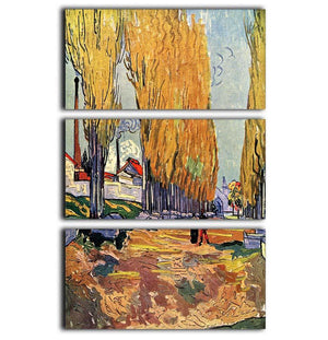 Les Alyscamps by Van Gogh 3 Split Panel Canvas Print - Canvas Art Rocks - 1