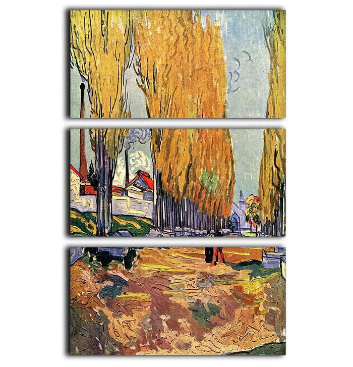Les Alyscamps by Van Gogh 3 Split Panel Canvas Print