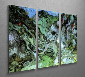 Les Peiroulets Ravine 2 by Van Gogh 3 Split Panel Canvas Print - Canvas Art Rocks - 4