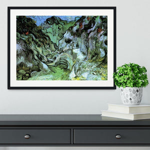 Les Peiroulets Ravine 2 by Van Gogh Framed Print - Canvas Art Rocks - 1