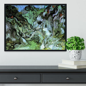 Les Peiroulets Ravine 2 by Van Gogh Framed Print - Canvas Art Rocks - 2