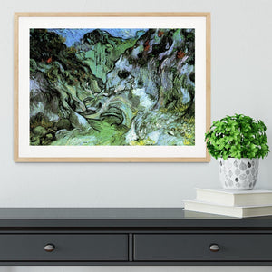 Les Peiroulets Ravine 2 by Van Gogh Framed Print - Canvas Art Rocks - 3