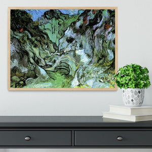 Les Peiroulets Ravine 2 by Van Gogh Framed Print - Canvas Art Rocks - 4