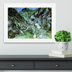Les Peiroulets Ravine 2 by Van Gogh Framed Print - Canvas Art Rocks - 5