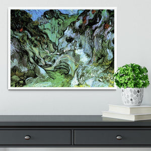 Les Peiroulets Ravine 2 by Van Gogh Framed Print - Canvas Art Rocks -6