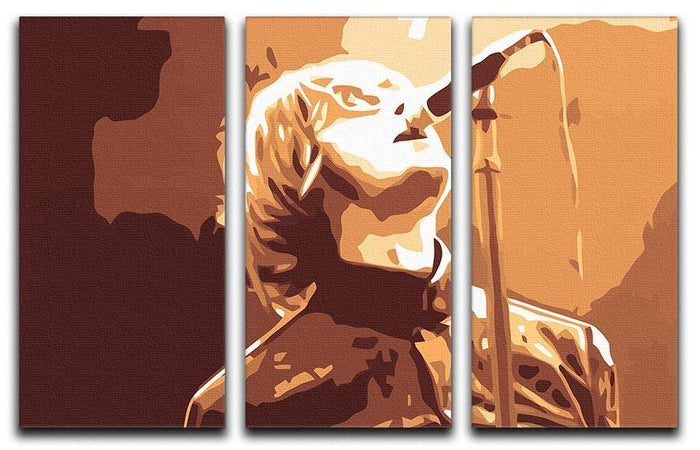 Liam Gallagher Oasis Rock n Roll 3 Split Panel Canvas Print