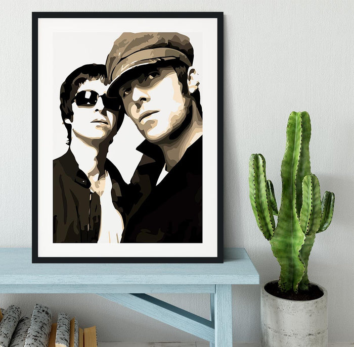 Liam and Noel Gallagher Oasis Framed Print