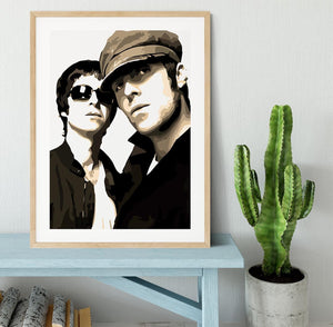 Liam and Noel Gallagher Oasis Framed Print - Canvas Art Rocks - 3