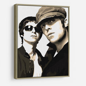 Liam and Noel Gallagher Oasis HD Metal Print