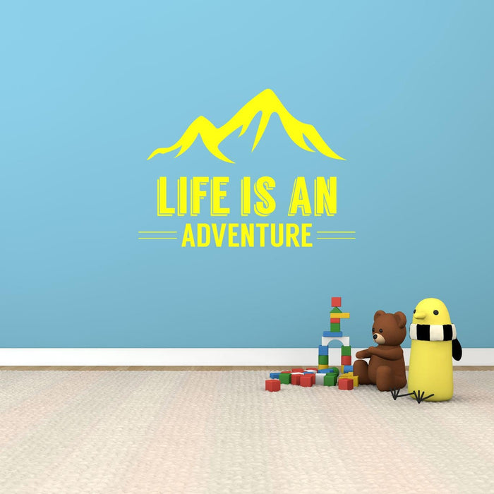 Life Is An Adventure Wall Sticker